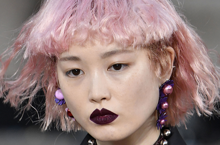 Fernanda Ly's Hair Turns Heads Again at Kenzo