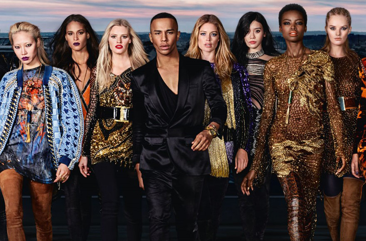 Olivier Rousteing Just Dropped the L'Oréal x Balmain Campaign