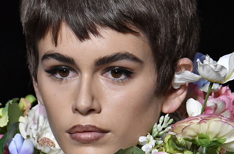 Kaia Gerber Took Her Moschino Pixie Cut for an After-Hours Spin