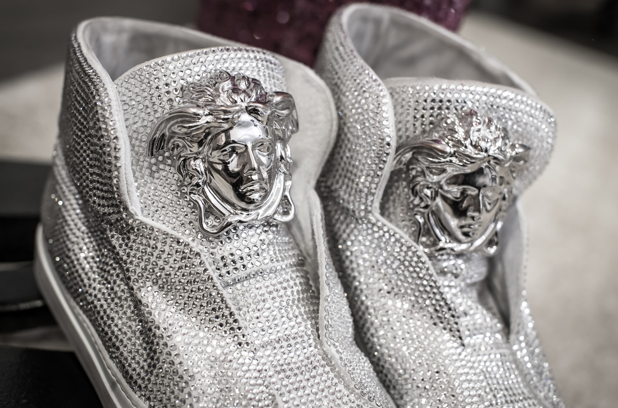 1 swarovski versace shoes